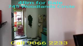 4Rm HDB for Sale at 745 Woodlands Circle