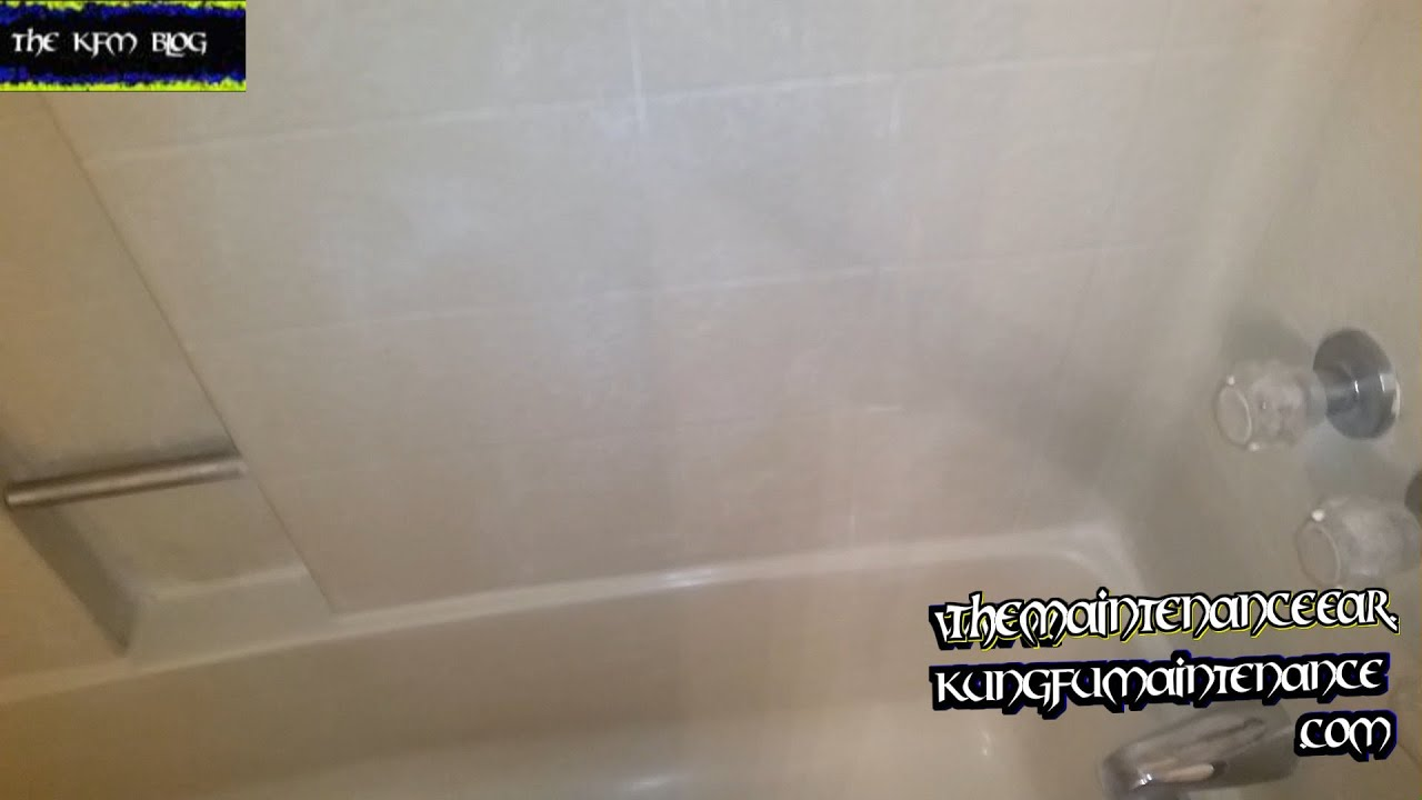 Cleaning Soap Residue Shower Doors Fiberglass Tub Surround Metal ...