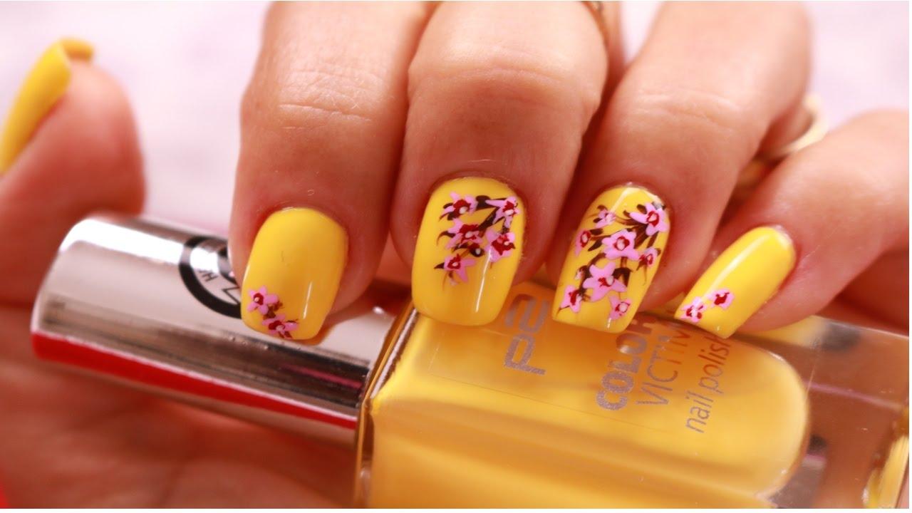 Blumen Nagel Design Inspiriert vom Frühling / Easy Spring Floral ...