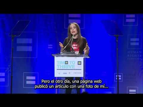 Ellen Page revela públicamente su homosexualidad (subtítulos en españo]) [720p]