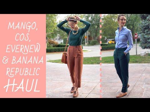 FALL 2019 FASHION HAUL | Mango, COS, Evernew And Banana Republic