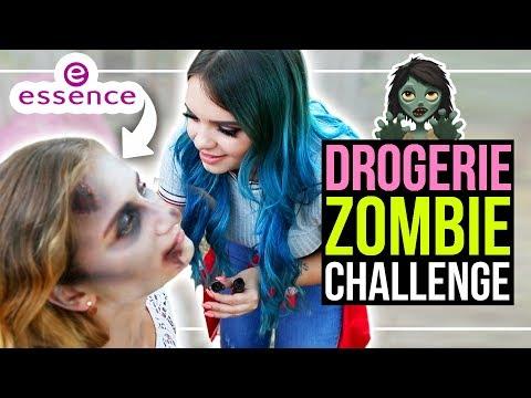 DROGERIE ZOMBIE MAKEOVER CHALLENGE mit essence! 😱ft. byevelina, yummypilgrim & annitheduck!