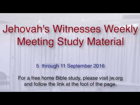 WATCHTOWER CHEESE Jehovah's Witnesses Weekly Meeting Study Material 5 to 11 September 2016