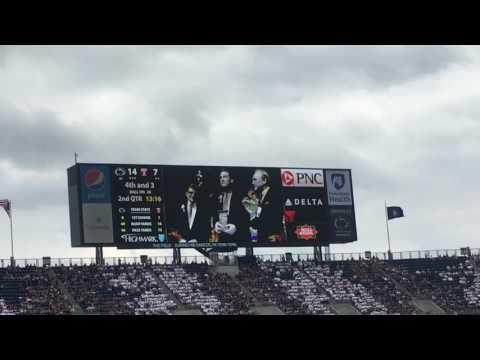 Honoring Joe Paterno Video Penn State vs. Temple football 9/17/2016