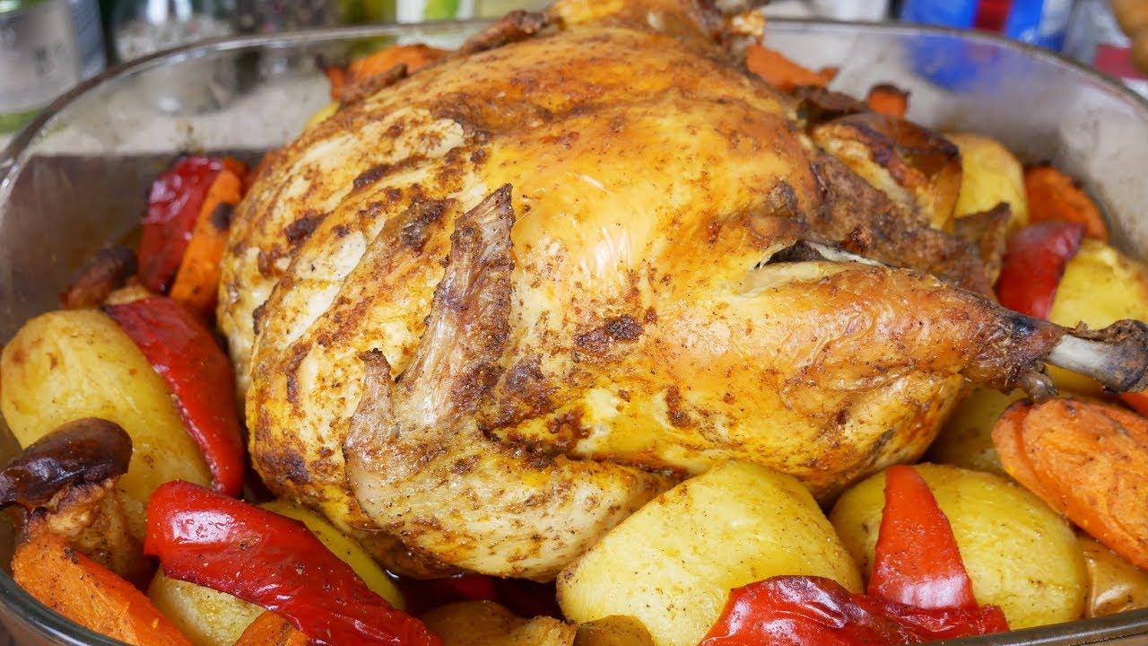 Новогоднее блюдо - всем по карману, цыганка готовит.КУРИЦА запечённая с КАРТОШКОЙ и ЯБЛОКАМИ.