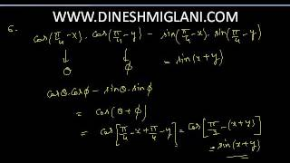 TRIGONOMETRY EXERCISE 3.3 Part 1 NCERT SOLUTIONS CLASS 11 BY DINESH MIGLANI SIR