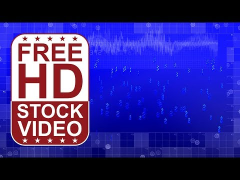 FREE HD video backgrounds - blue hi tech digital background with small 3D dollars falling