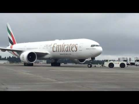 Emirates Boeing 777-300ER Seattle-Tacoma International Airport