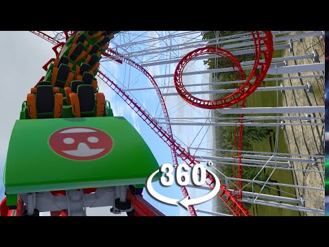 VR 360 Corkscrew Roller Coaster Full Movie Video For Oculus Quest And HTC Vive