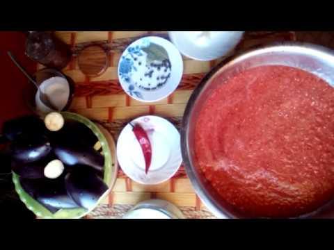 Баклажаны в томатном соусе на зиму без стерелизации//Зимние заготовки