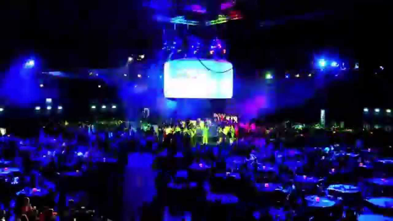 Event timelapse: Audio visual installation for gala dinner featuring 360 projection screen