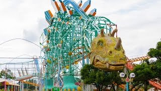 Gao Dinosaur Themed Roller Coaster POV 60 FPS Mitsui Greenland Japan
