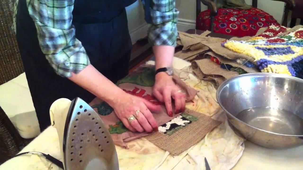 Binding A Hooked Rug With Deanne