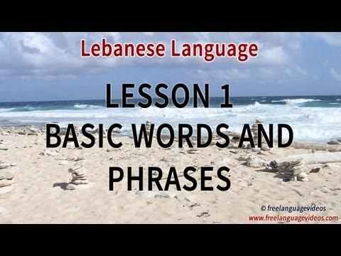 how to speak lebanese arabic