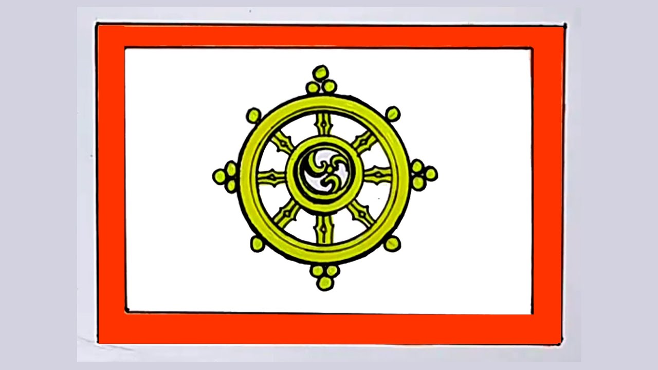 Sikkim flag Drawing / Sikkim culture drawing