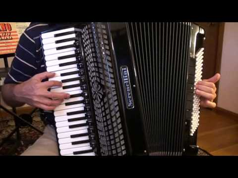 Easy accordion music-Ukranian song+Russian romance+French song