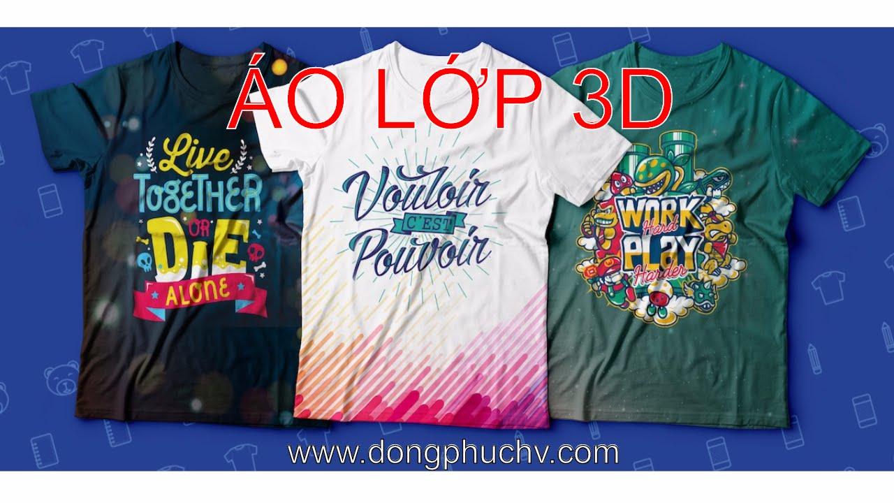 Áo lớp 3D – Đồng Phục Nhóm 3D đẹp – Áo Nhóm 3D – dongphuchv.com