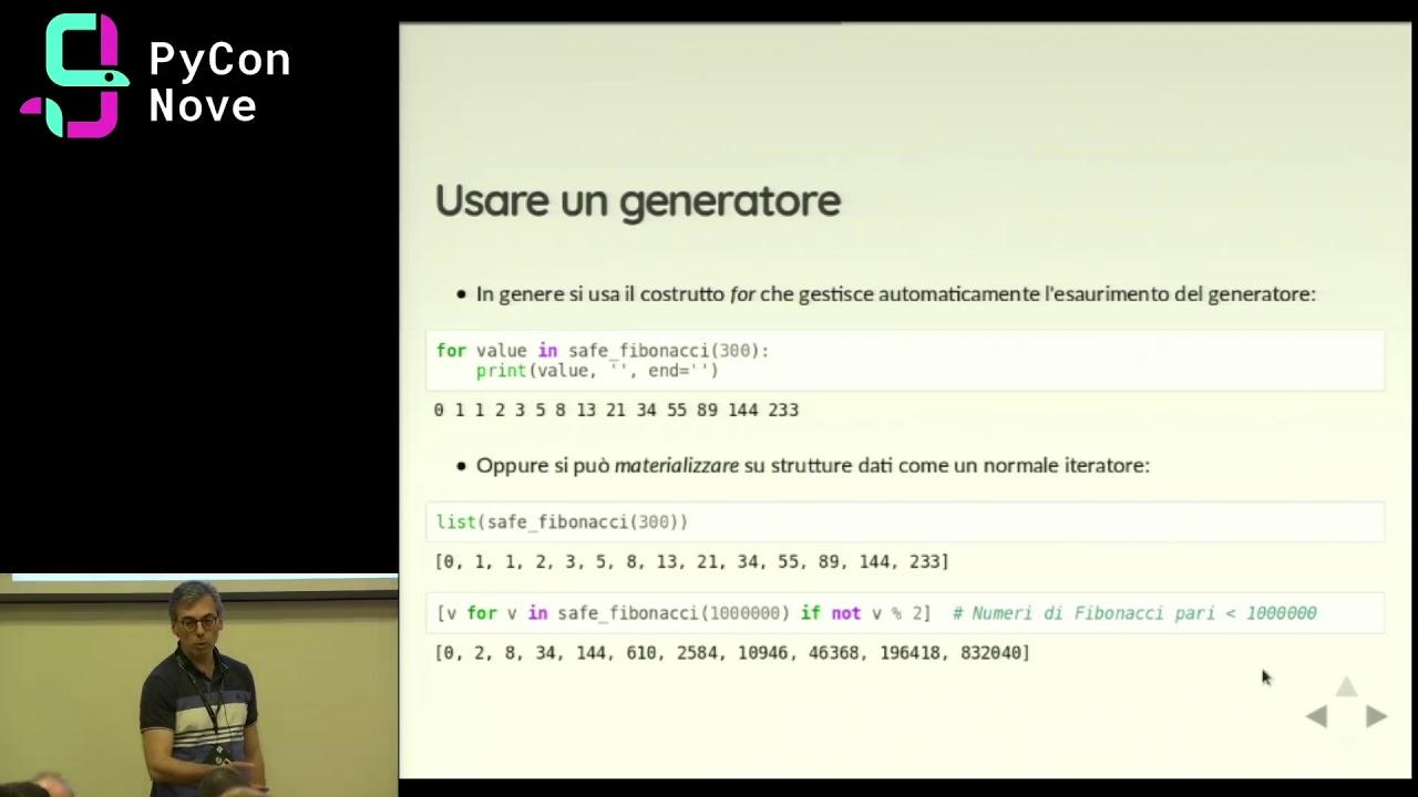 Image from Il rasoio dei generatori di Python per semplificare il codice e ridurre l'uso di memoria