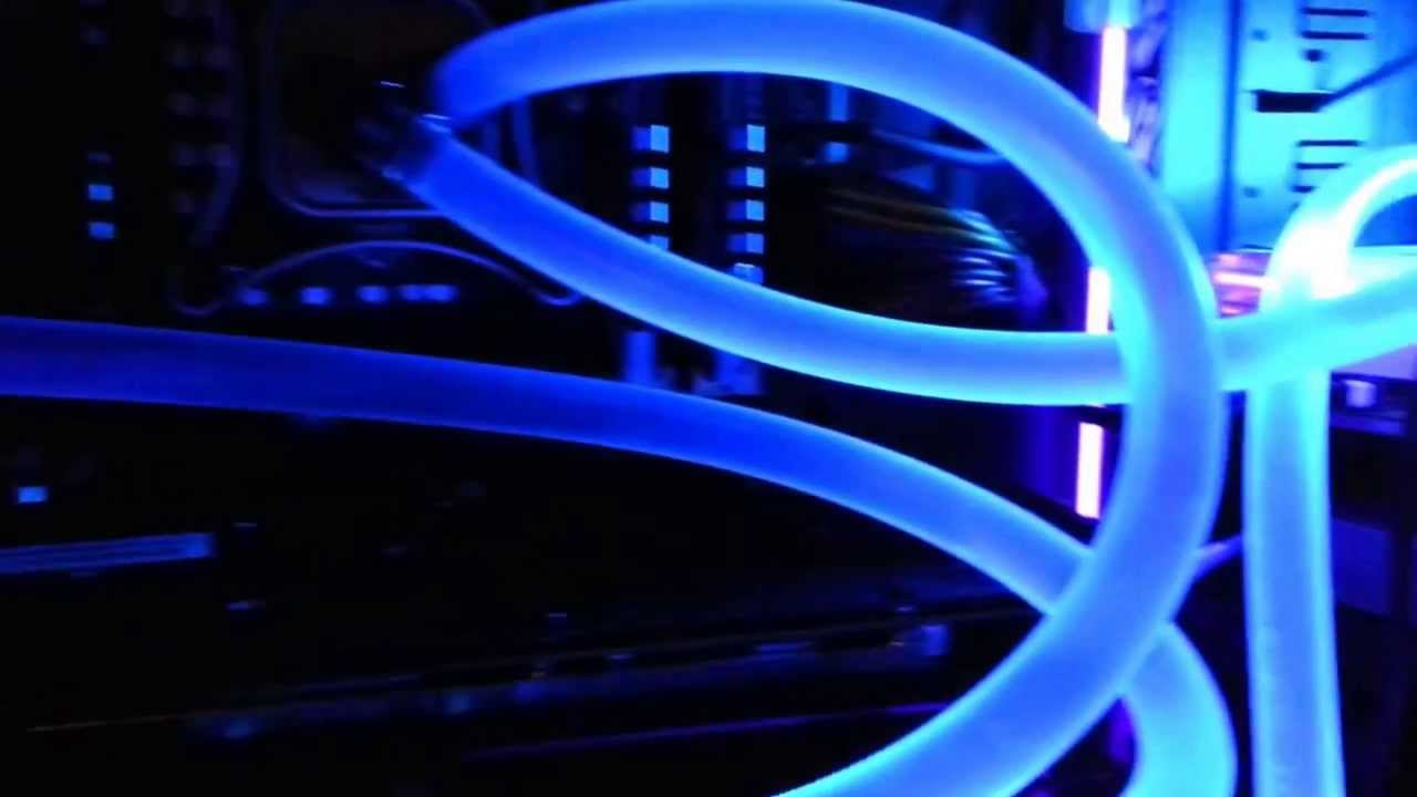 4 7 Ghz Cool Uv Blue Watercooled Gaming Pc Youtube