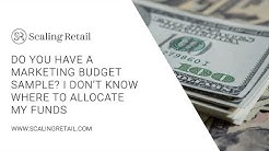 Do You Have a Marketing Budget Sample? I Don't Know Where to Allocate My Funds.