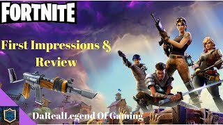 Fortnite PS4 Review & First Impressions | Deluxe Founders Pack | PS4 Gameplay Recap First 60 Minutes