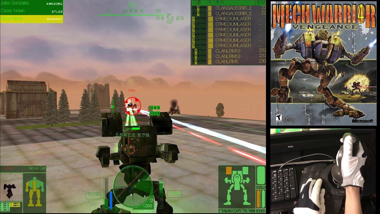 MechWarrior 4 (2000) Mad Cat MK II gameplay with SideWinder Precision 2