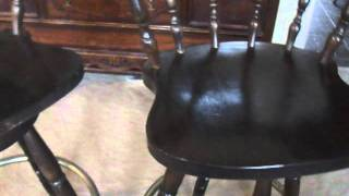 Shopmfp.ca Two Solid Wood Bar Stools For Sale
