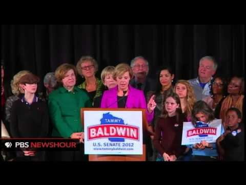 Dem. Tammy Baldwin Becomes First Openly Gay Senator Elected