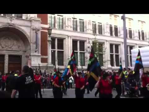Mansfield marching band on london
