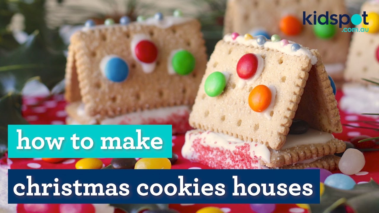 easy recipe  how to make little cookie houses