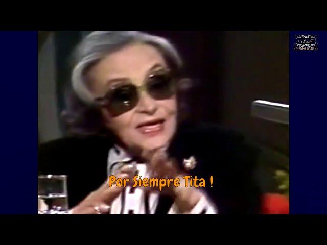 Icono del tango, entrevista a una mujer participe de la historia del tango, Tita Merello