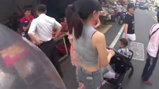 台南永康區大灣黃昏市場美女出沒