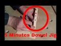 How to make a dowel jig in 5 minutes