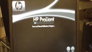 set up hp proliant dl380 g7 server from the beginning