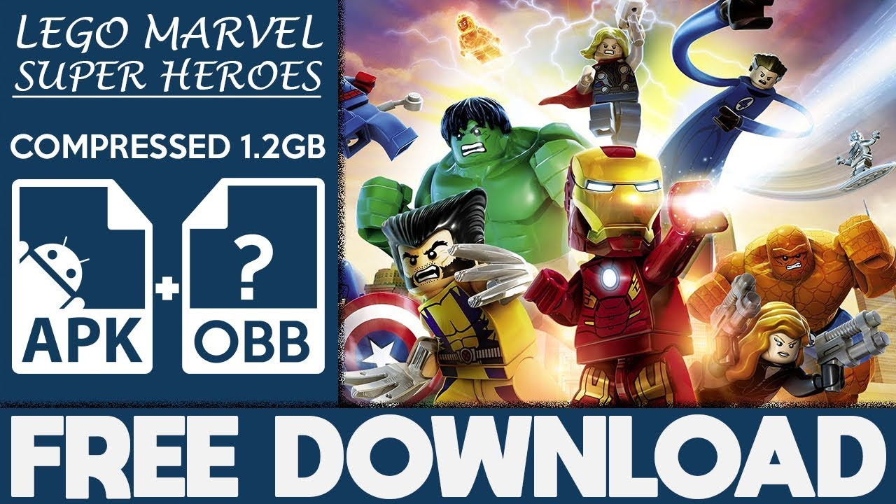 How To Download LEGO Marvel Super Heroes Apk OBB For Android 2018  #Smartphone #Android
