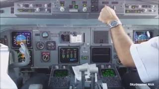 ✈ Fokker100 cockpit approach and landing RWY09 at Samos(LGSM/SMI).