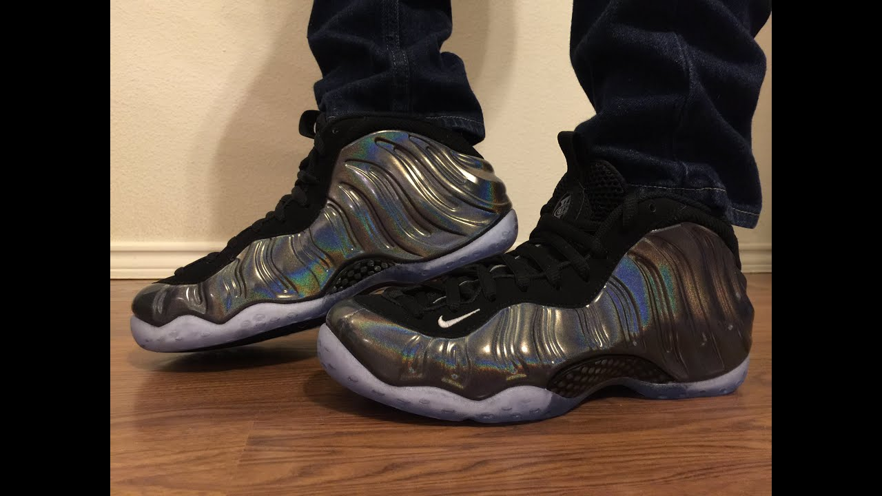 7d22a9a5ddd Nike Foamposite One Hologram unbox and on feet review - YouTube