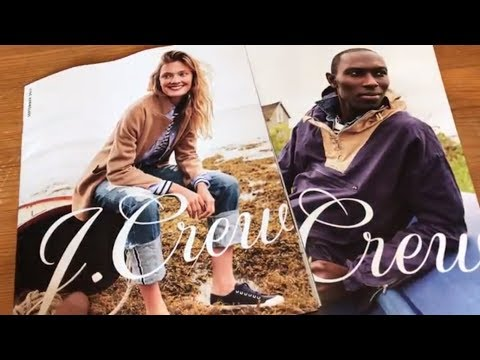 ASMR Flipping through J. Crew Mailer Magazines (whispering, tracing)
