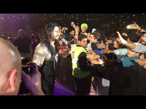 ROMAN REIGNS ENTRY IN INDIA 2018 | WWE INDIA TOUR | PAM'S WORLD thumbnail