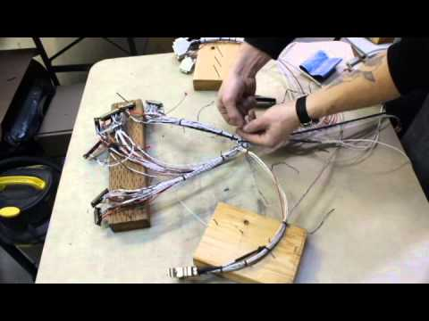 Organizing a wire harness for a Cessna 182 on
