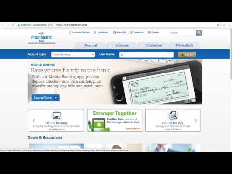 FirstMerit Bank Online Banking Login / Sign In - Huntington Acquisition