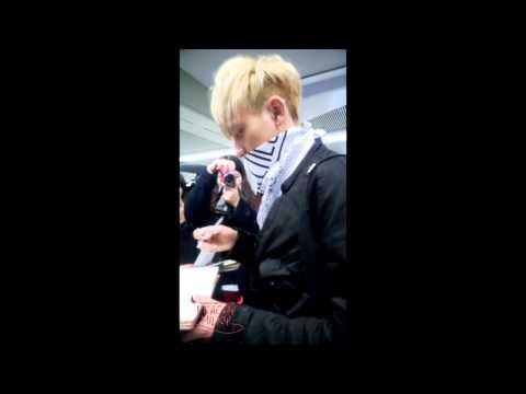 [PeachyMilky] 140131 QINGDAO LIUTING Airport Tao & Sehun