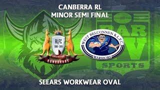 2018 Canberra Region Rugby League - Minor Semi Final - Queanbeyan Kangaroos v West Belconnen