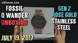 Fossil Q Wander Gen 2 Rose Gold Stainless Steel Android Wear Smartwatch Unboxing