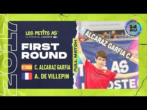 C. ALCARAZ GARFIA (ESP) vs A. DE VILLEPIN (FRA) - 1st round main draw - Les Petits As 2017