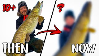 BACK ON THE LEGENDARY 10KG+ WATER - Ice Fishing for BIG PIKE | Team Galant