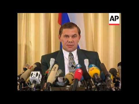 Russia - Alexander Lebed press conference