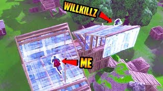GETTING IN A 1v1 with WillKillz! (Fortnite Battle Royale) ''Build Battle""