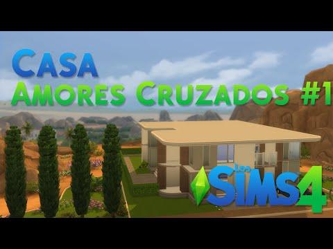 Los sims 4 construcci n amores cruzados parte 3 for Casa moderna lyna