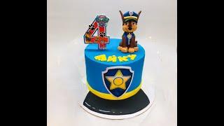 Оформление торта в стиле м/ф Щенячий патруль
